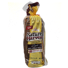 ARNOLD NATURE'S HARVEST WHOLE GRAINS LIGHT 100% WHOLE WHEAT BREAD