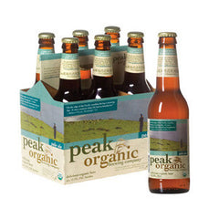 PEAK ORGANIC BREWING COMPANY AMBER ALE BEER - 6 PACK BOTTLES
