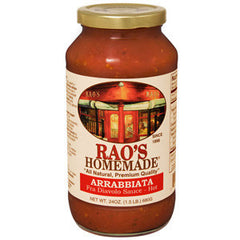 RAO'S HOMEMADE ALL NATURAL ARRABBIATA PASTA SAUCE