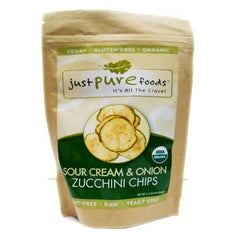 JUST PURE FOODS SOUR CREAM & ONION ZUCCHINI CHIPS