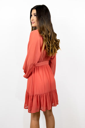 A Love Connection Salmon Dress