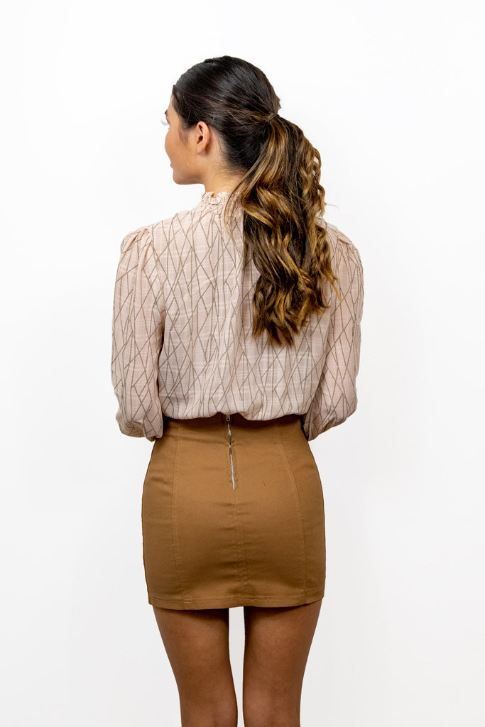 About Last Night Brown Mini Skirt
