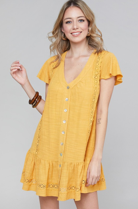 Darling Me Mustard Dress