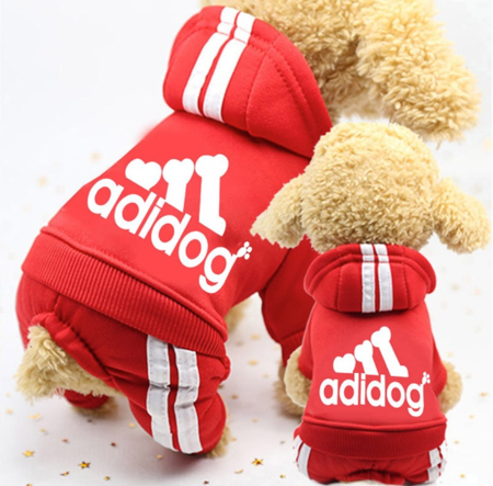 ADIDOG RED TRACK SUIT