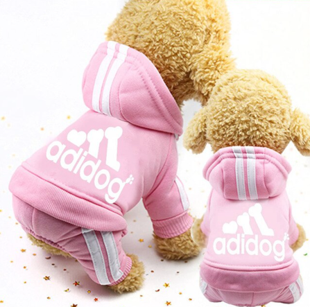 ADIDOG PINK TRACK SUIT