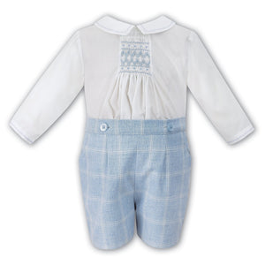 Sarah Louise Boy's Plaid Set