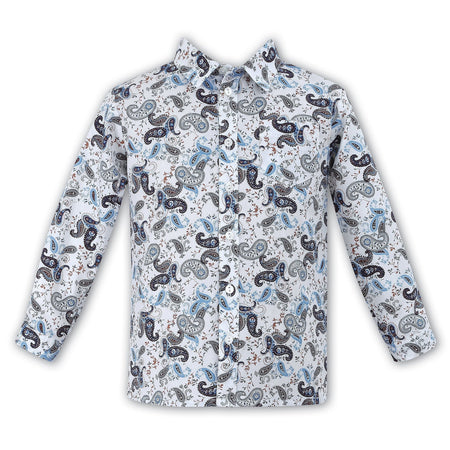 Sarah Louise Boy's Paisley Shirt