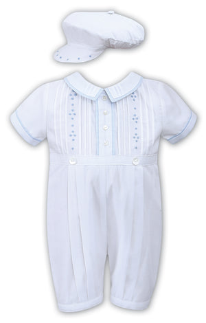 Sarah Louise Blue and White Romper