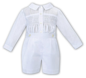 Sarah Louise Boys Smocked Outfit