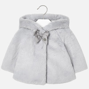 Mayoral Gray Fur Coat