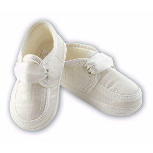 Sarah Louise Boys Shoes in White