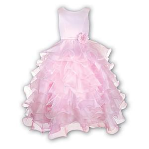 Sarah Louise Pink Ruffle Dress