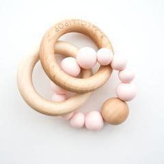 Loulou Lollipop Bubble Teether in Rose Quartz, Pearl, Gray, or Baby Blue