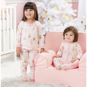Mud Pie Pink Tree Pajamas