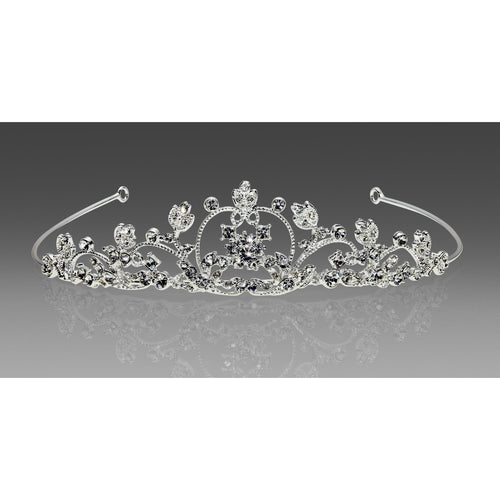 Cinderella's Carriage Tiara COmmunion Silver