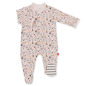 Magnificent Baby Pink Cirque Bebe Modal Magnetic Footie