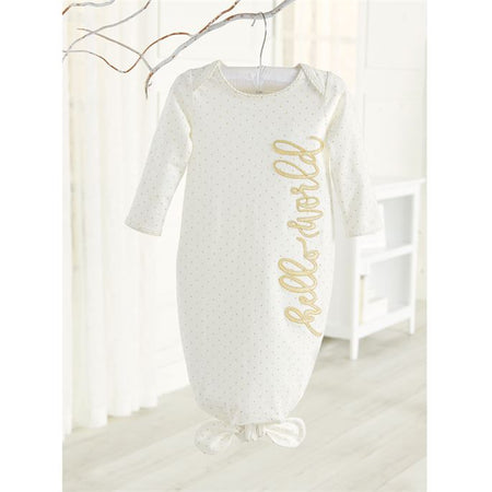 Mud Pie Hello World Tie Sleep Gown