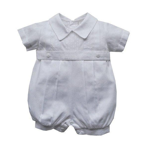 Karela Kids White Pique Bubble Romper 1923
