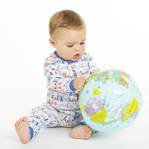 Magnificent Baby Blue Globetrotter Footie