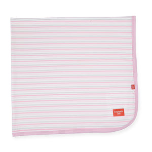 Magnificent Baby Pink Stripe Modal Swaddle Blanket