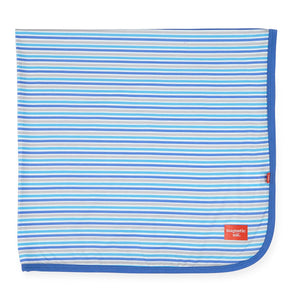 Magnificent Baby Blue Stripe Modal Swaddle Blanket