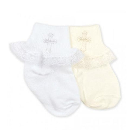 Jefferies Lace Christening Socks