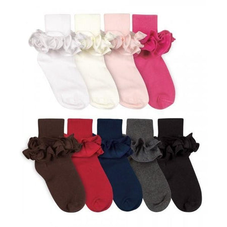 Jefferies Socks 2-Layer Ruffle Sock