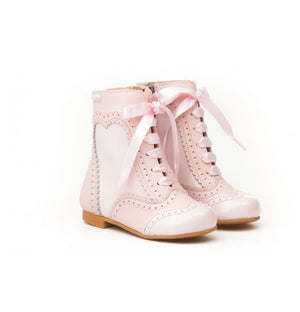 Light Pink Leather Boots