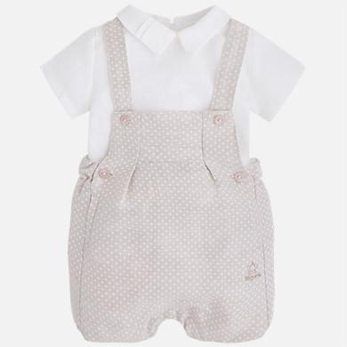 Mayoral Linen Overall and Shirt