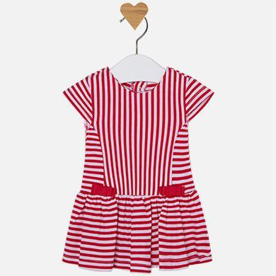 Mayoral Striped Dress in Poppy