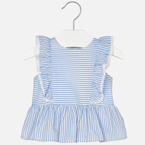 Mayoral Striped Blouse For Baby Girl Spring Summer