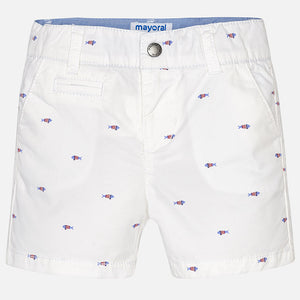 Mayoral Fish Shorts spring summer white bermuda
