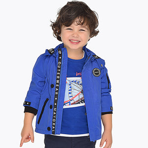 Nautical windbreaker jacket for boy