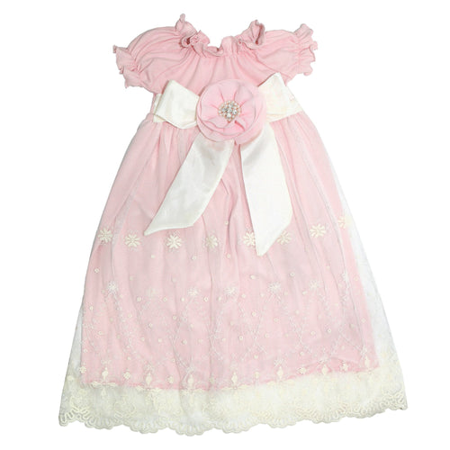 Haute Baby Lacey Rose Gown