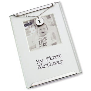 Mud Pie First Birthday Clip Frame