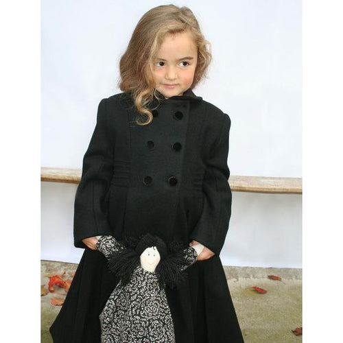 London Wool Coat in Dark Grey