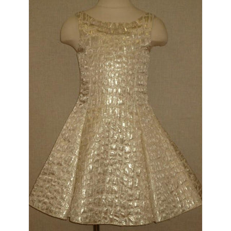 Zoe Ltd Gold Fit And Flare Dress