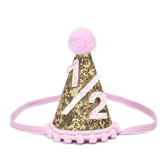 Gold Half Birthday Party Hat Laylas Boutique KOP