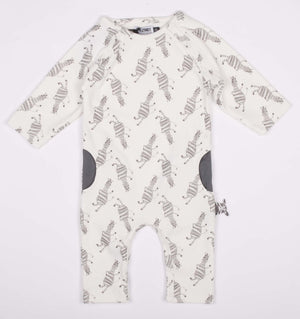 Zero to Three Zebra Romper