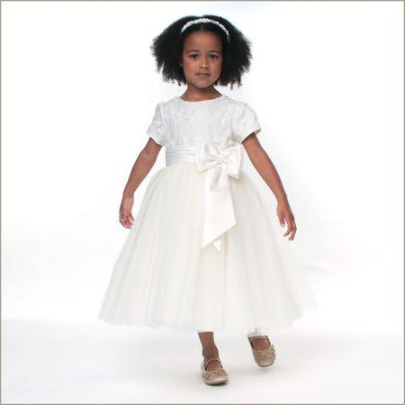 Sarah Louise Tulle Dress in Ivory