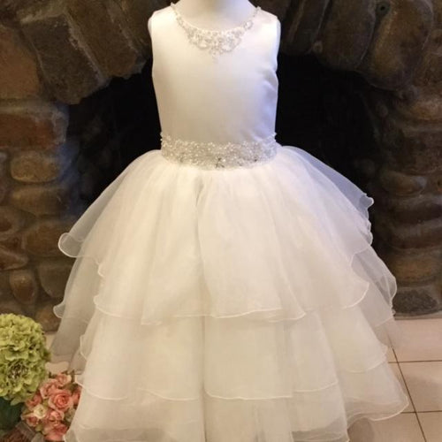 Christie Helene Diamond White Layered Organza
