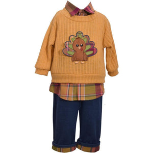 Bonnie Jean Boys Turkey Outfit