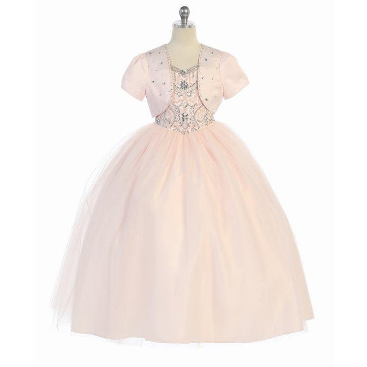 Bijan Kids Tulle Dress with Bolero