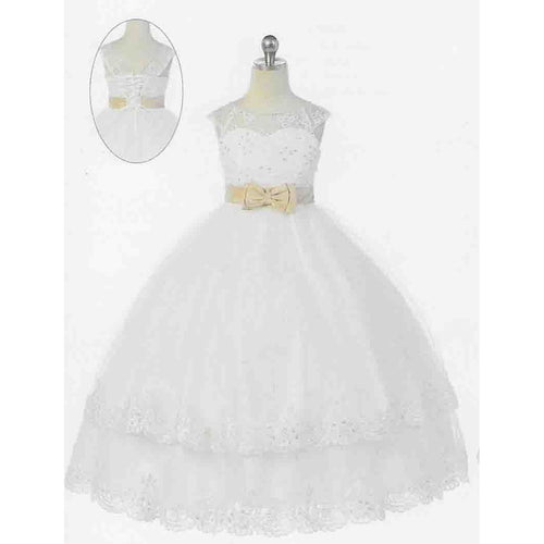 Bijan Kids Floor Length Dress