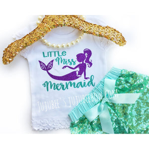 JJ Bowtique Little Miss Mermaid