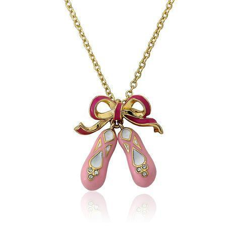 Twin Star Ballet Shoe Necklace