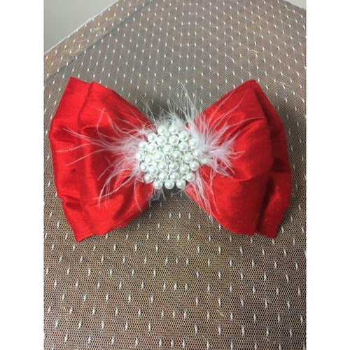 Priscilla Red Silk Clip
