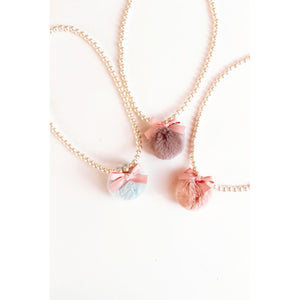 Maeli Rose Pearl Pom Necklace