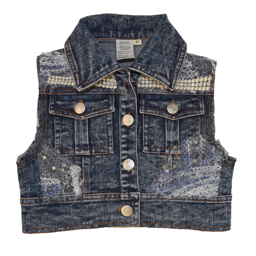 Little Mass Verona Denim Vest
