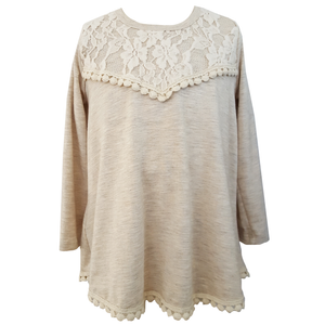 Little Mass Lace Hippie Babe Long Sleeve Top